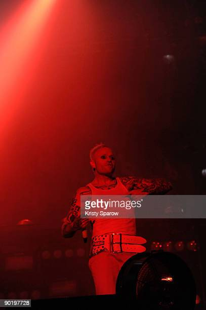 Keith Flint of The Prodigy performing on stage during the Rock en Seine music festival on August 30 2009 in Paris France