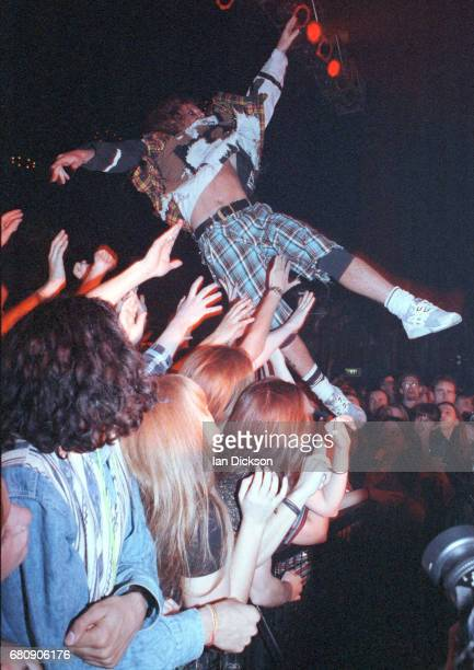 Keith Flint of The Prodigy performing on stage United Kingdom 1994