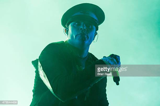 Keith Flint of The Prodigy performs live at Alexandra Palace on May 16 2015 in London England