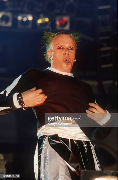 Keith Flint of the Prodigy performs on stage United Kingdom 1997