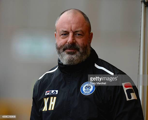 Keith Hill Manager of Rochdale during the Sky Bet League One match between Port Vale and Rochdale at Vale Park on November 15 2014 in Burslem England