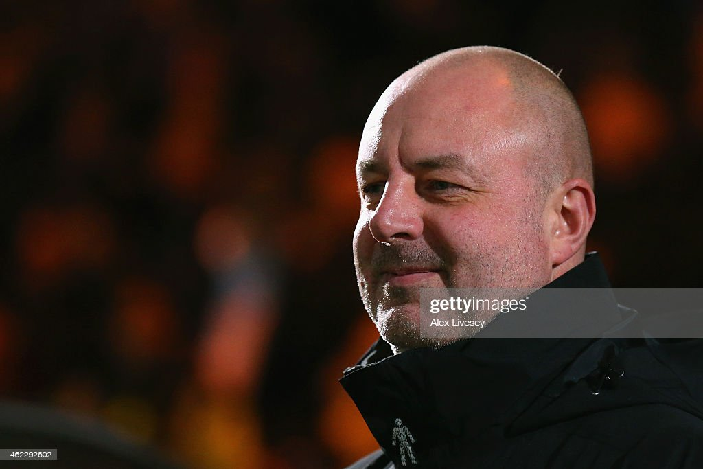 Keith Hill manager of Rochdale looks on during the FA Cup fourth round match between Rochdale and Stoke City at Spotland Stadium on January 26 2015...