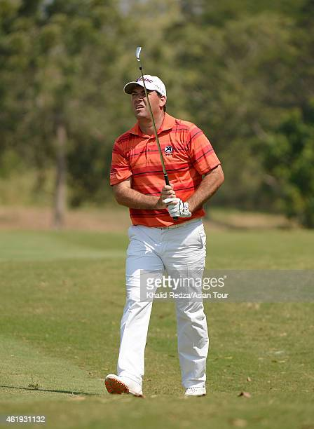 Keith Horne of South Africa playing a shot during round one of the Asian Tour Qualifying School presented by Sports Authority of Thailand at the...
