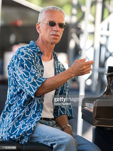 Keith Jarrett attends sound check at the Pinede Gould for the concert at the Jazz A Juan Festival on July 16 2011 in JuanlesPins France