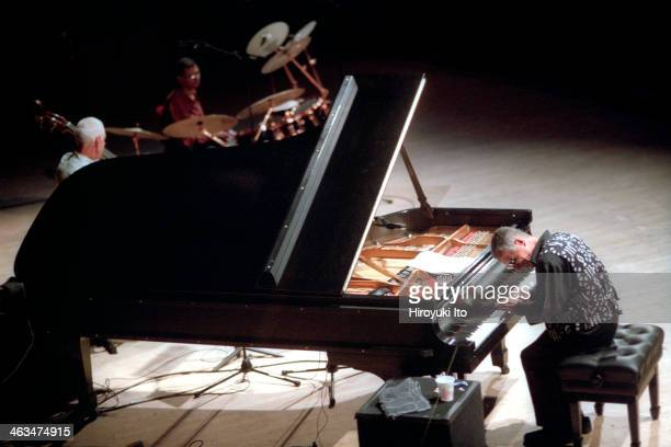 Keith Jarrett performing at Carnegie Hall on Tuesday night June 26 2001 as part of JVC Jazz FestivalThis imageKeith Jarrett on piano Gary Peacock on...