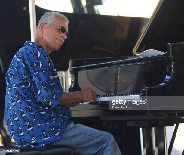 Keith Jarrett performs during the 50th Birthday of Europe's oldest Jazz Festival Jazz A Juan on July 21 2010 in Antibes France