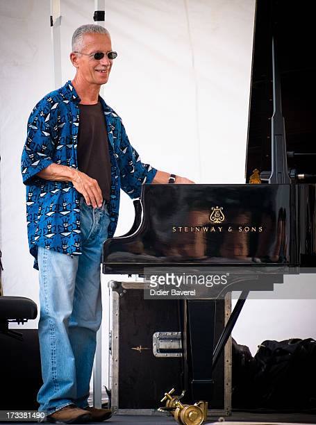 Keith Jarrett rehearses before his show at JuanLesPins Jazz Festival on July 12 2013 in JuanlesPins France