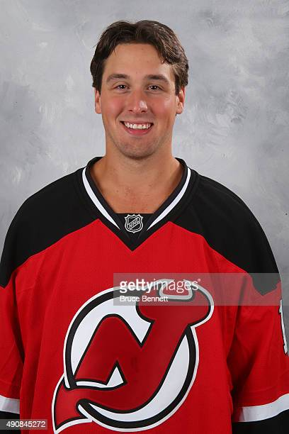 Keith Kincaid of the New Jersey Devils poses for his official headshot of the 201516 season at the Prudential Center on September 17 2015 in Newark...