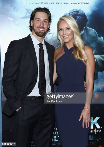 Keith Kinkaid and guest attend the 'DUNKIRK' New York premiere at AMC Lincoln Square IMAX on July 18 2017 in New York City