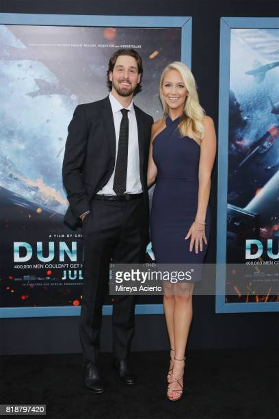 Keith Kinkaid and guest attend the 'DUNKIRK' New York Premiere on July 18 2017 in New York City