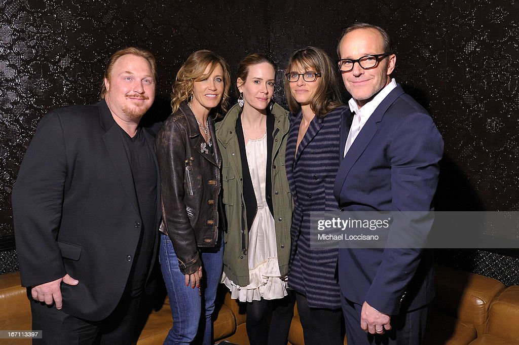Keith Kjarval, <a gi-track='captionPersonalityLinkClicked' href=/galleries/search?phrase=Felicity+Huffman&family=editorial&specificpeople=201903 ng-click='$event.stopPropagation()'>Felicity Huffman</a>, <a gi-track='captionPersonalityLinkClicked' href=/galleries/search?phrase=Sarah+Paulson&family=editorial&specificpeople=220657 ng-click='$event.stopPropagation()'>Sarah Paulson</a>, <a gi-track='captionPersonalityLinkClicked' href=/galleries/search?phrase=Amanda+Peet&family=editorial&specificpeople=201910 ng-click='$event.stopPropagation()'>Amanda Peet</a>, and director <a gi-track='captionPersonalityLinkClicked' href=/galleries/search?phrase=Clark+Gregg&family=editorial&specificpeople=587275 ng-click='$event.stopPropagation()'>Clark Gregg</a> attend the Tribeca Film Festival 2013 after party for 'Trust Me' sponsored by Ciroc on April 20, 2013 in New York City.