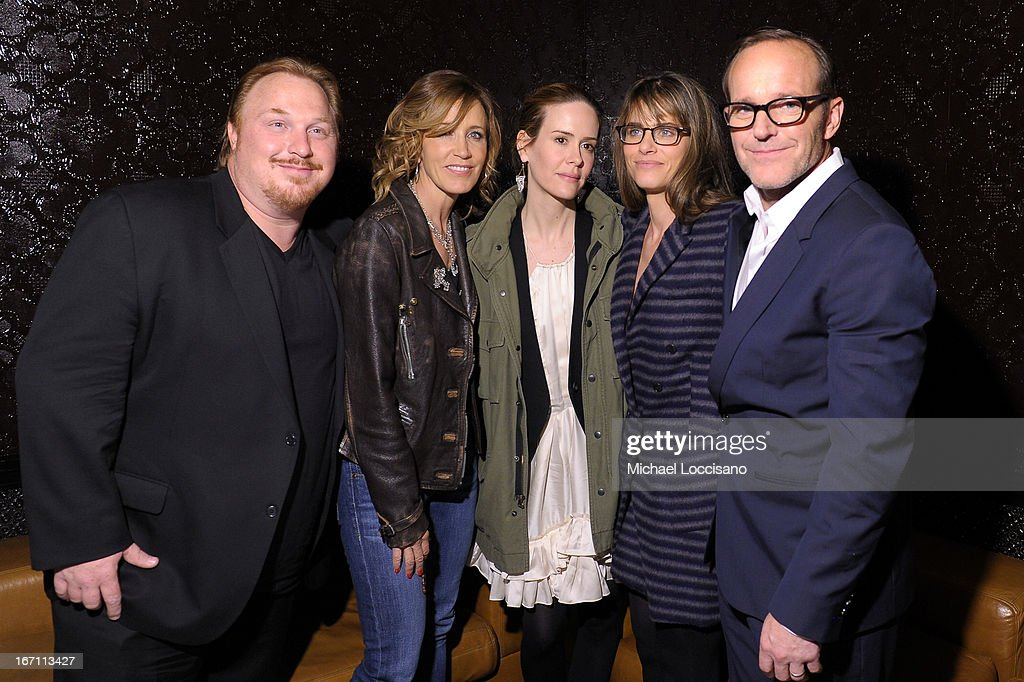 Keith Kjarval, Felicity Huffman, Sarah Paulson, Amanda Peet, and director Clark Gregg attend the Tribeca Film Festival 2013 after party for 'Trust Me' sponsored by Ciroc on April 20, 2013 in New York City.