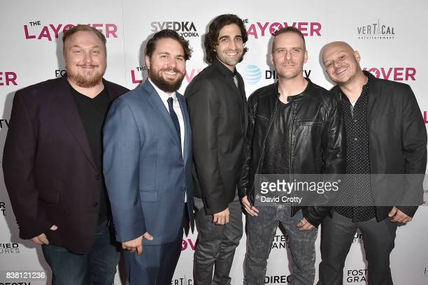 Keith Kjarval Tyler Jackson Joe Bicicchi Gary Michael Schultz and Mike Dozier attend the Premiere Of DIRECTV And Vertical Entertainment's 'The...