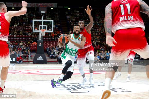 Keith Langford #5 of Unics Kazan in action during the 2016/2017 Turkish Airlines EuroLeague Regular Season Round 30 game between EA7 Emporio Armani...