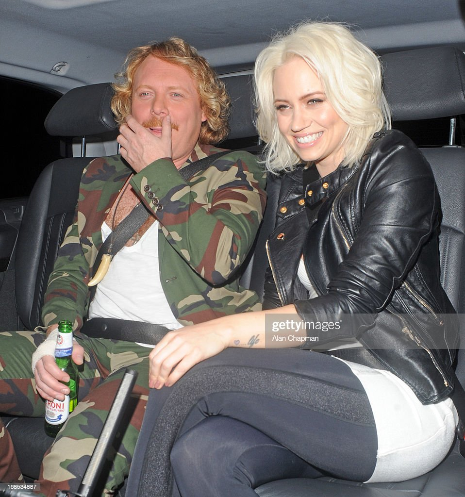 Keith Lemon and Kimberly Wyatt sighting arriving at Funky Buddah Berkeley Street Mayfair on May 10, 2013 in London, England.