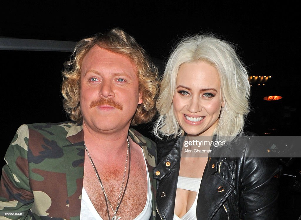 Keith Lemon and Kimberly Wyatt sighting arrving at Funky Buddah Berkeley Street Mayfair on May 10, 2013 in London, England.