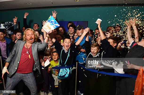 Keith Lemon poses as he travels to five UK destinations to meet with his fans and give away premiere tickets for his upcoming feature film debut...