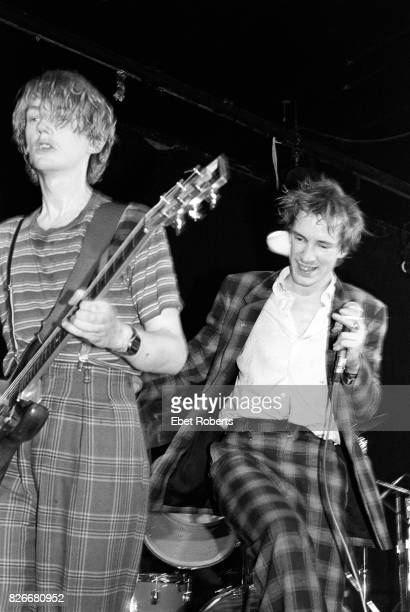 Keith Levene and John Lydon performing with Public Image Ltd at Great Gildersleeves in New York City on April 22 1980