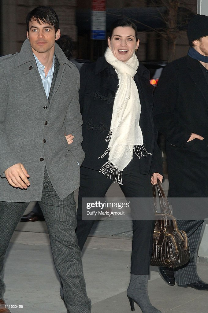 Keith Lieberthal and actress Julianna Margulies attend the New York Screening of 'Leatherheads' at the Museum of Modern Art on April 3 2008 in New...