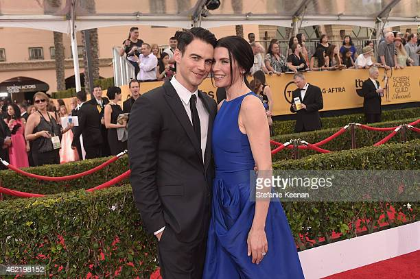 Keith Lieberthal and actress Julianna Margulies attend TNT's 21st Annual Screen Actors Guild Awards at The Shrine Auditorium on January 25 2015 in...