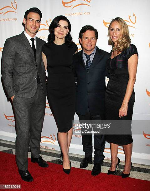 Keith Lieberthal Julianna Margulies Michael J Fox and Tracy Pollan attend 2013 A Funny Thing Happened On The Way To Cure Parkinson's at The...