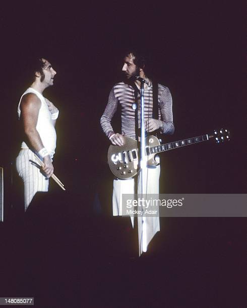 Keith Moon and Pete Townshend perform with The Who at The Gator Bowl in Jacksonville FL on August 7 1976