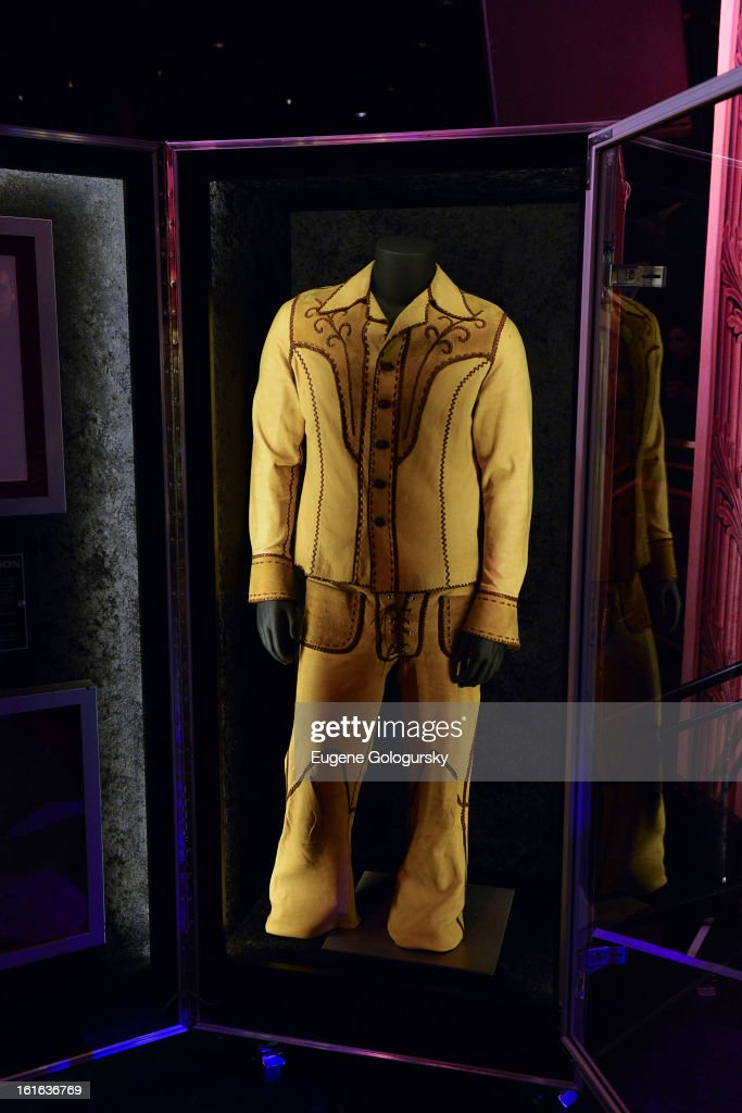 Keith Moon memorabilia at the 'Gone Too Soon' and 'Music Gives Back' Media Preview Day at the Hard Rock Cafe, Times Square on February 13, 2013 in New York City.