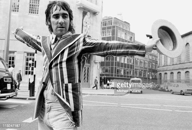 Keith Moon of The Who portrait outside BBC Broadcasting House London 11th July 1973