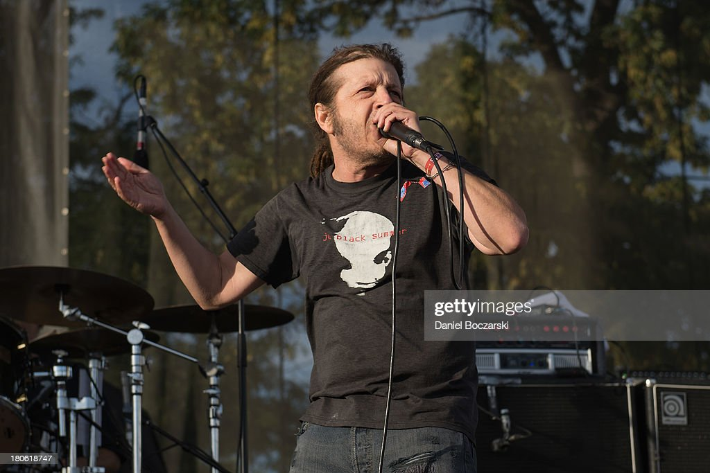 Keith Morris of FLAG performs on stage on Day 2 of Riot Fest and Carnival 2013 at Humboldt Park on September 14, 2013 in Chicago, Illinois.