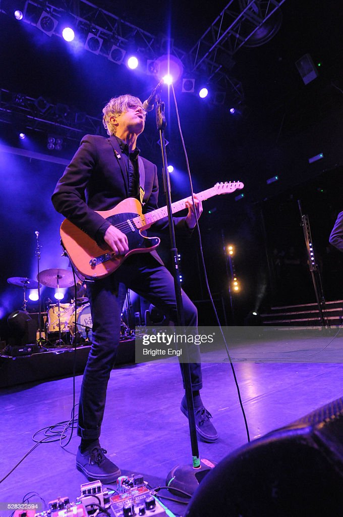Keith Murray of We Are Scientists perform at KOKO on May 4, 2016 in London, England.
