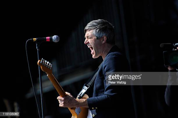 Keith Murray of We Are Scientists performs on stage during the first day of Rock Am Ring on June 03 2011 in Nuerburg Germany