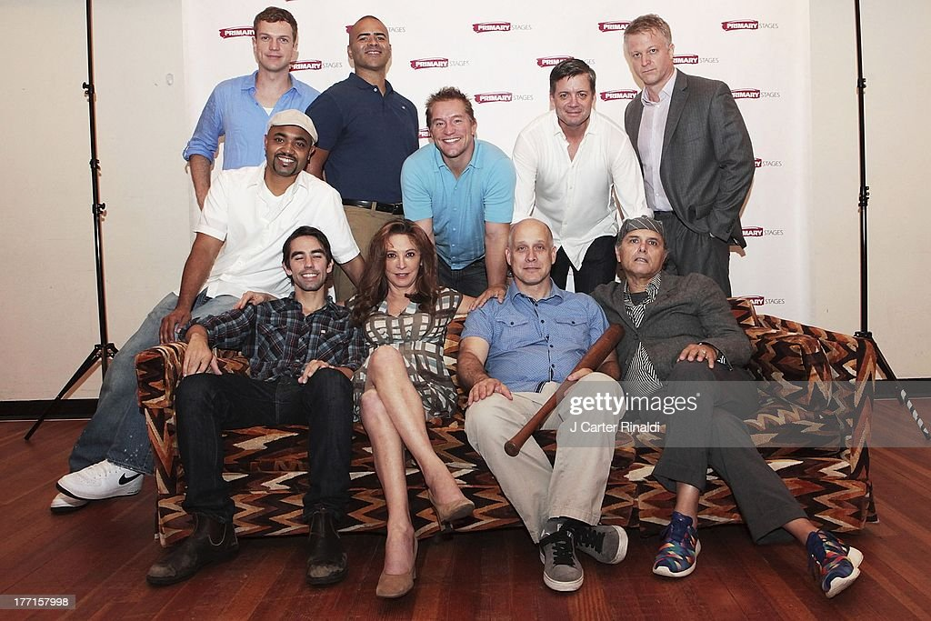 Keith Nobbs, Wnedy Makkenna, Simon Ericson, Joe Panoliano, Francois Battiste, John Wernke, Christopher Jackson, Bill Dawes, Christopher Henry Coffey, and C. J. Wilson attends the cast meet and greet for the upcoming Off-Broadway production 'Bronx Bombers' at Playwrights Horizons Rehearsal Studios on August 21, 2013 in New York City.