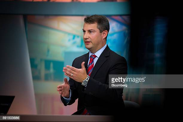 Keith Parker US head of asset allocation for Barclays Capital Inc speaks during a Bloomberg Television interview in New York US on Wednesday August...