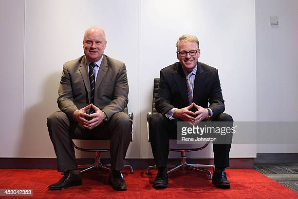 TORONTO ON NOVEMBER 28 Keith Pelley and Scott Moore at Rogers headquarters in Toronto The pair who brokered the deal with the NHL talk to the Toronto...