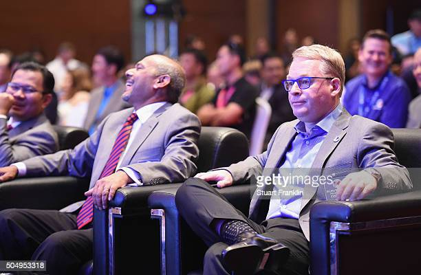 Keith Pelley CEO of the European tour looks on during the opening ceremony prior to the start of the EurAsia Cup presented by DRBHICOM at Glenmarie...