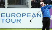 Keith Pelley Chief Executive of The European Tour in action during the Pro Am event prior to the start of the British Masters supported by Sky Sports...