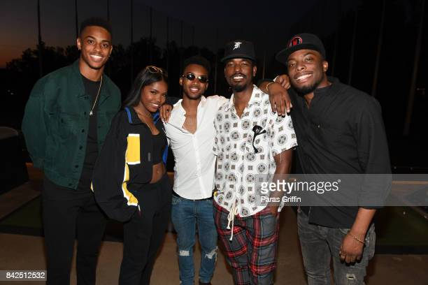 Keith Powers Ryan Destiny Algee Smith Luke James and Woody McClain at LudaDay Weekend Topgolf Takeover at Topgolf Midtown on September 3 2017 in...