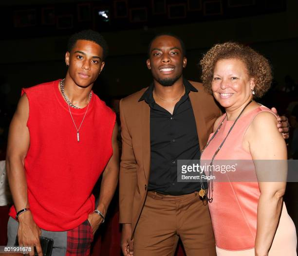 Keith Powers Woody McClain and Debra Lee attend the Screening of the BET Series 'Tales' at DGA Theater on June 26 2017 in Los Angeles California