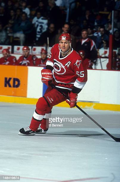 Keith Primeau of the Carolina Hurricanes skates on the ice during an NHL game circa 1998