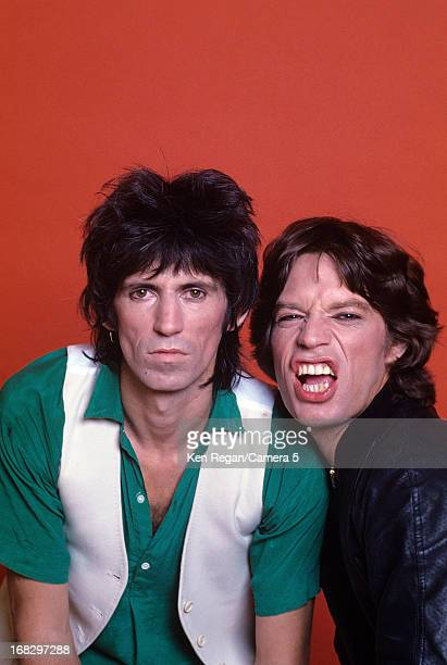 Keith Richards and Mick Jagger of the Rolling Stones are photographed at the Camera 5 studios in 1977 in New York City CREDIT MUST READ Ken...