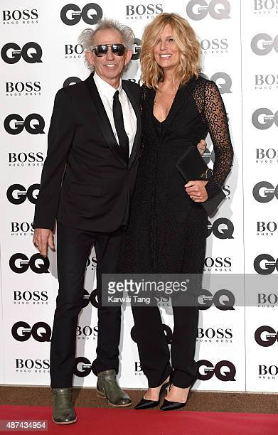 Keith Richards and Patti Hansen attend the GQ Men Of The Year Awards at The Royal Opera House on September 8 2015 in London England
