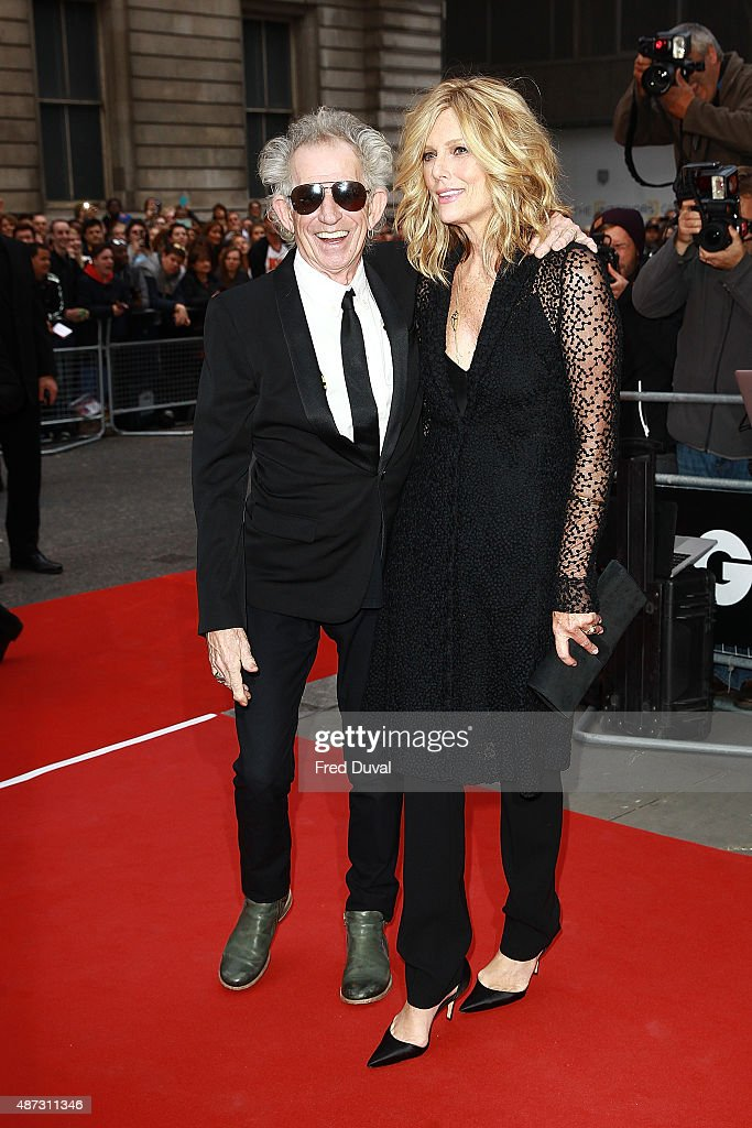 Keith Richards and Patti Hansen attends the GQ Men Of The Year Awards at The Royal Opera House on September 8, 2015 in London, England.