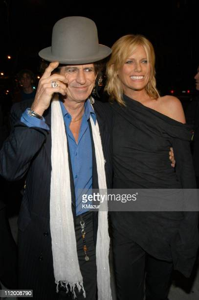 Keith Richards and wife Patti Hansen during The Rolling Stones Celebrate the Launch of 'Four Flicks' in New York City Arrivals at Capitale in New...