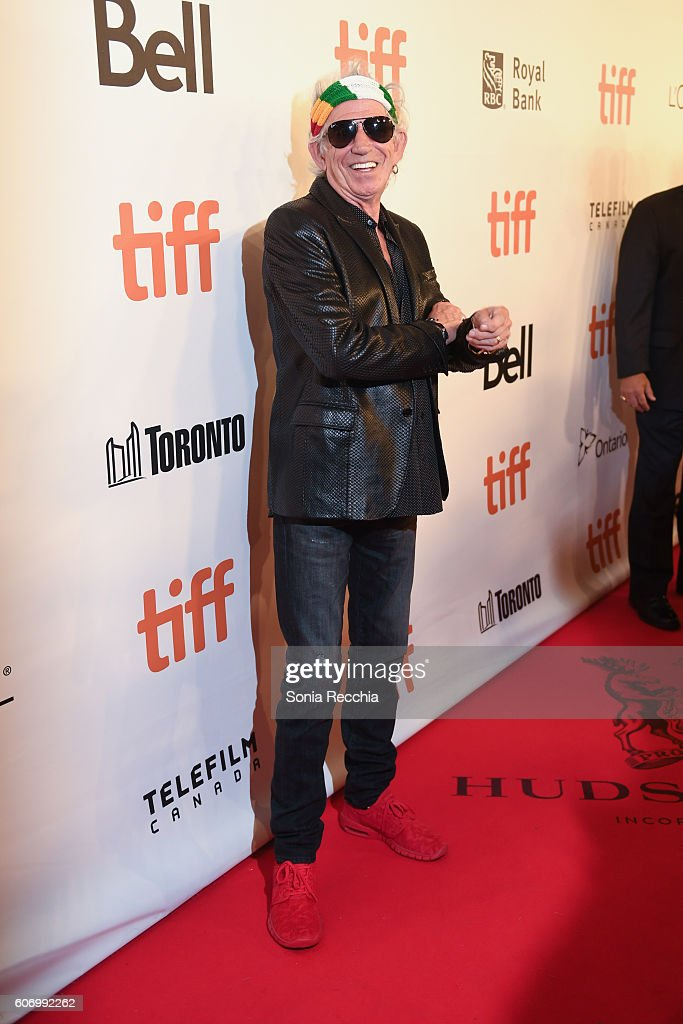 Keith Richards attends 2016 Toronto International Film Festival 'The Rolling Stones Ole Ole Ole!: A Trip Across Latin America' Premiere at Roy Thomson Hall on September 16, 2016 in Toronto, Canada.
