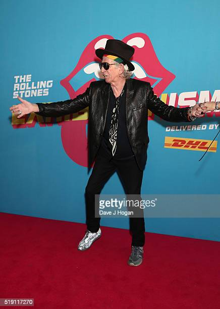 Keith Richards attends an after party for 'The Rolling Stones Exhibitionism' Saatchi Gallery on April 4 2016 in London England