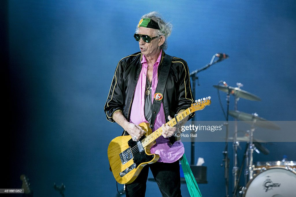 Keith Richards from the Rolling Stones headlines the Roskilde Festival 2014 on July 3, 2014 in Roskilde, Denmark.