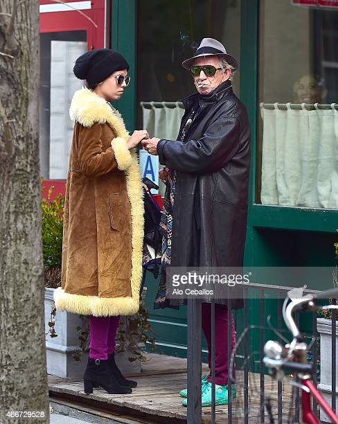 Keith Richards is seen in the West Village on March 18 2015 in New York City