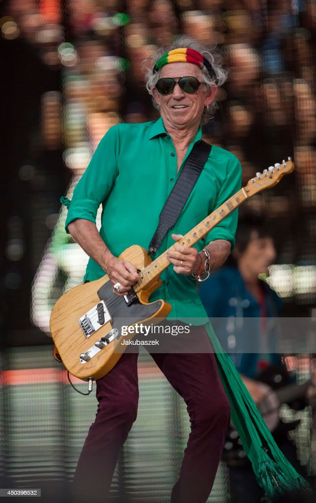 Keith Richards of the British band The Rolling Stones performs live during a concert at the Waldbuehne on June 10, 2014 in Berlin, Germany.