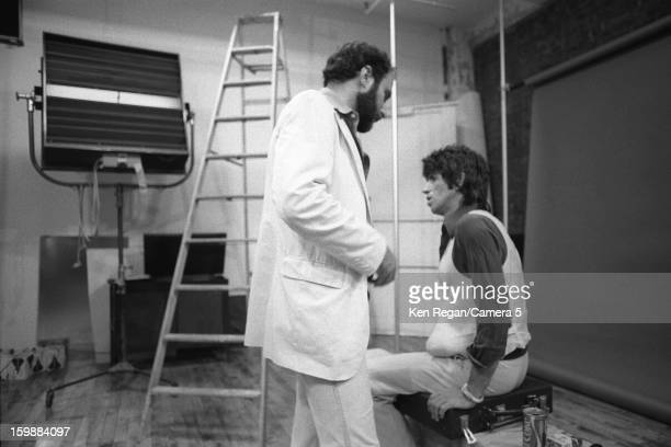 Keith Richards of the Rolling Stones and friend are photographed at the Camera 5 studios in 1977 in New York City CREDIT MUST READ Ken Regan/Camera 5...