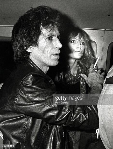 Keith Richards of the Rolling Stones and Patti Hansen